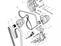 Ремень генератора двигателя трактора Massey Ferguson — 4374378M1