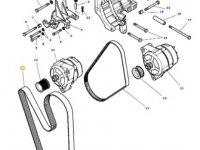 Ремень генератора двигателя трактора Massey Ferguson — 4375174M1