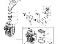 Воздушный фильтр двигателя трактора Massey Ferguson — 4375638M1