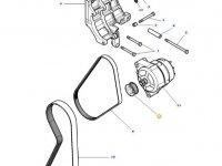Шкив (ролик) ремня генератора двигателя трактора Massey Ferguson — 4376757M1