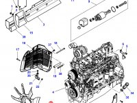 Крыльчатка (вентилятор) радиатора трактор Challenger — 4377131M1