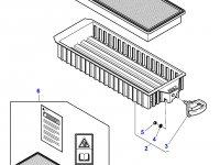 Фильтр воздушный кабины для тракторов Massey Ferguson — 4378102M1
