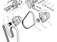Шкив (ролик) ремня генератора двигателя трактора Massey Ferguson — 4379089M1