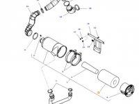 Воздушный фильтр двигателя трактора Massey Ferguson — 4379574M1