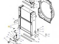 Радиатор двигателя трактора Massey Ferguson (Водяной радиатор+интеркулер) — 4381834M93
