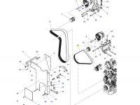 Ремень генератора двигателя трактора Massey Ferguson — 4383064M2