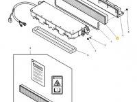 Фильтр воздушный кабины для тракторов Massey Ferguson — 4385875M2
