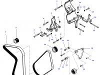 Натяжной ролик ремня двигателя трактора Massey Ferguson — 4386089M2