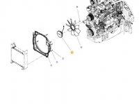 Вискомуфта вентилятора радиатора двигателя трактора Massey Ferguson — 4386279M2