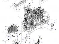 Вискомуфта вентилятора радиатора двигателя трактора Massey Ferguson — 4389002M1