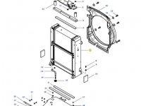 Радиатор двигателя трактора Massey Ferguson (Водяной радиатор+интеркулер) — 4389488M93