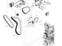 Ремень воздушного компрессора двигателя трактора Massey Ferguson — 4390524M2