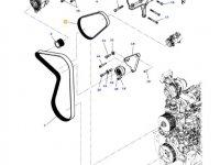Ремень компрессора кондиционера двигателя трактора Massey Ferguson — 4390525M1