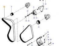 Ремень генератора двигателя трактора Massey Ferguson — 4390529M2