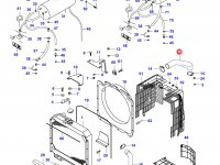 Верхний патрубок радиатора двигателя Sisu Diesel — 33098100