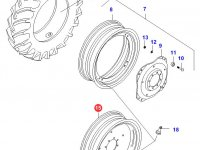 Задний колесный диск - DW14x34 (A - fixed) — 32646100