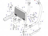 Патрубок интеркулера двигателя Sisu Diesel — 36465400