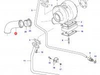 Патрубок турбокомпрессора двигателя Sisu Diesel — 836866794