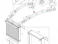 Патрубок интеркулера двигателя Sisu Diesel — 36058500