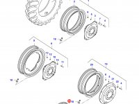 Задний колесный диск - DW16x38 — 34801700