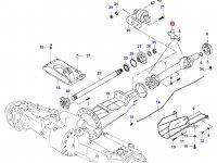 Крестовина карданного вала привода переднего моста — 37285300