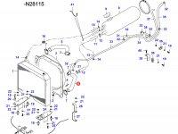 Нижний патрубок радиатора двигателя Sisu Diesel — 34541800