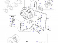 Патрубок турбокомпрессора двигателя Sisu Diesel — 836767530