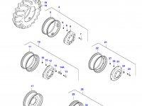 Вставка переднего колесного диска трактора — 34610000