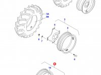 Передний колесный диск - W7x28 — 33057000
