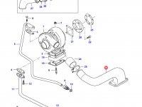 Патрубок турбокомпрессора двигателя Sisu Diesel — 836866339