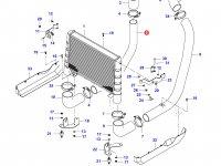 Патрубок интеркулера двигателя Sisu Diesel — 35186700