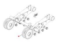 Ленивец (направляющее колесо гусеницы) для гусеничных тракторов Challenger (диаметр 105 мм) — 500062D1