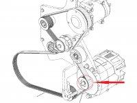 Шкив (ролик) ремня генератора трактора Challenger — 500519D1