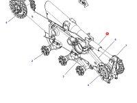 Натяжитель гусеницы для гусеничных тракторов Challenger — 500838D1
