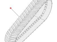 """Комплект гусеничных лент для тракторов Challenger (762 мм/30 """") — 501186D1"""