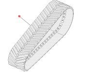 """Комплект гусеничных лент для тракторов Challenger (914 мм/36 """") — 501196D1"""