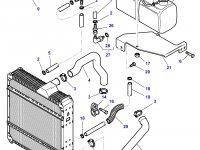 Патрубок охлаждения двигателя трактора Challenger — 5015117M1