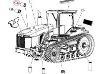 Воздушный фильтр (вставка) двигателя Caterpillar трактора Challenger — 501773D1