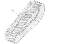"""Комплект гусеничных лент для тракторов Challenger (914 мм/36 """") — 502146D1"""