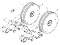 Ведущее колесо гусеницы для тракторов Challenger (Узкое; 89 мм/ 3.5 дюйма) — 502150D1