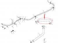 Патрубок радиатора трактора Challenger — 502529D1