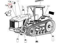Воздушный фильтр двигателя Caterpillar трактора Challenger — 504421D1