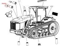 Воздушный фильтр (вставка) двигателя Caterpillar трактора Challenger — 504422D1