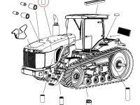 Масляный фильтр двигателя Caterpillar трактора Challenger — 504594D1