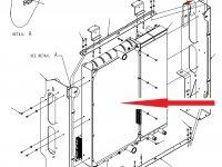 Радиатор двигателя трактора Challenger — 514887D1