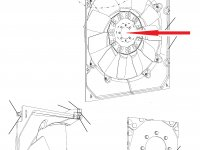 Крыльчатка (вентилятор) радиатора трактор Challenger — 515561D1