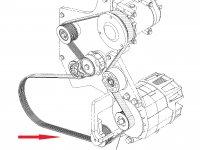 Ремень генератора трактора Challenger — 529883D1