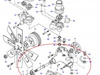 Водяной насос охлаждения двигателя Sisu Diesel — 836864481