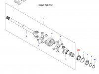 Сальник приводного (шарнирного) вала переднего моста — 36697900
