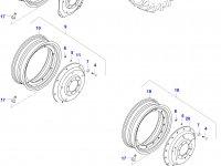 Задний колесный диск - DW23Bx38 (TRELLEBORG) — 0081390